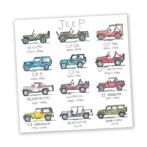 """Jeep Life Story"" Sticker"