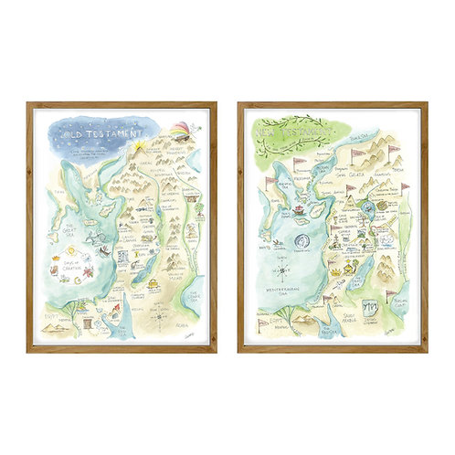 """Bible Watercolor Maps"" Set (Wholesale)"