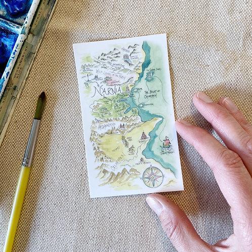 """""""Narnia Story Map"""" Sticker"""