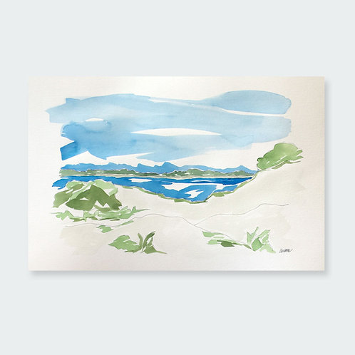 """Grayton Beach Dunes"" 12x18"