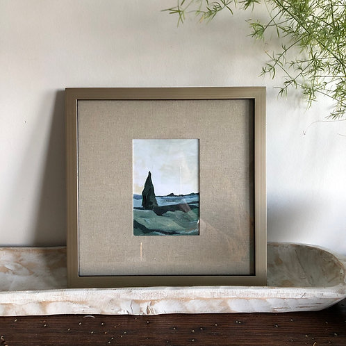 Cypress View - Large Framed Print