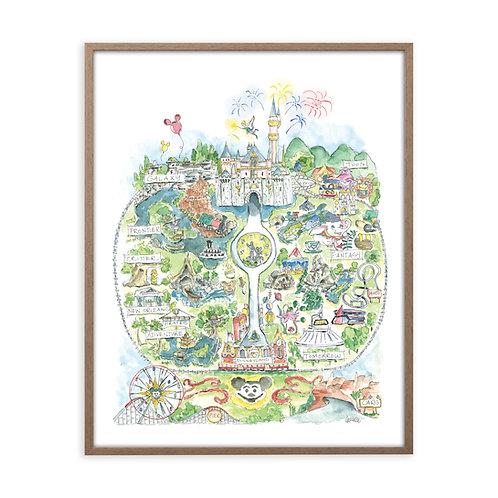 """Disneyland Story Map"" Print"