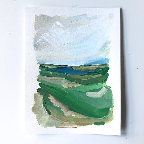 """Layered Landscape"" 9x12"