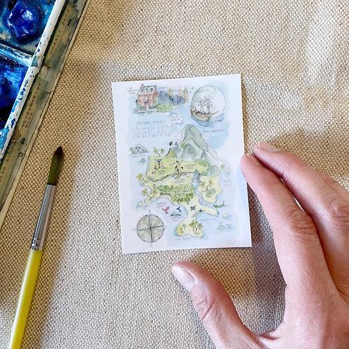 """Neverland Story Map"" Sticker"