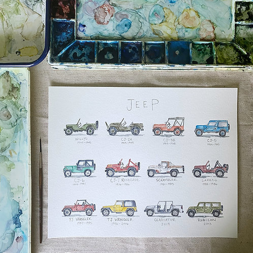 """""""Jeep Life: A Watercolor Story"""" Instant Download"""