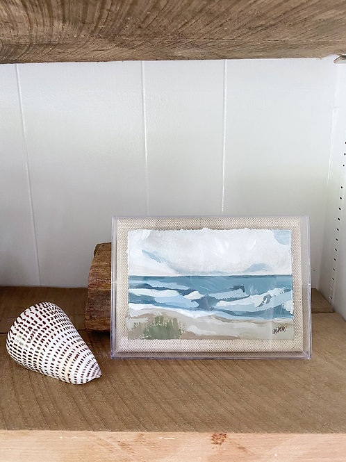 """Small Seascape IV""  -  5"" x 7"""