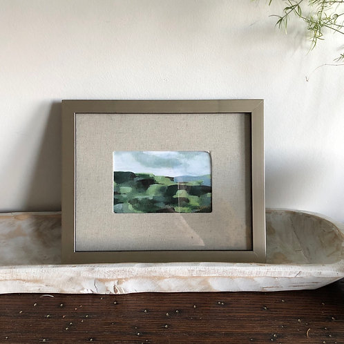 Abstract Hills - Medium Framed Print