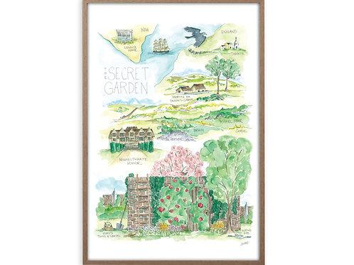 """""""Secret Garden Story Map"""" Print"""