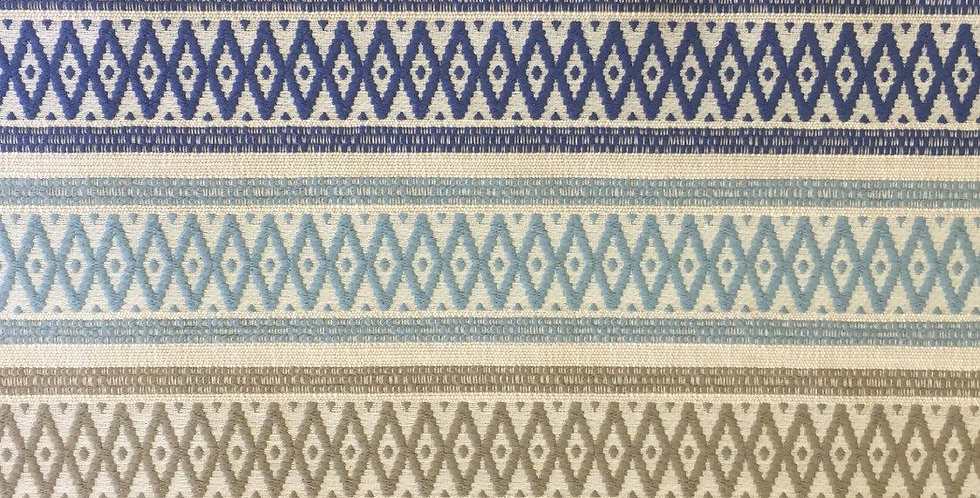 Aqua, Navy, Gray Putty Modern Geometric Textured Stripe
