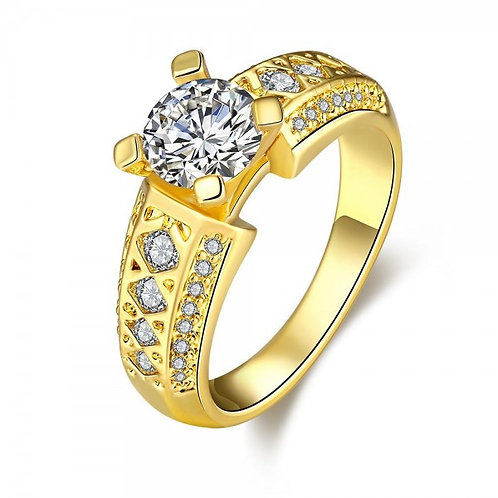 Grizela 18K Gold Plated Ring by Elite