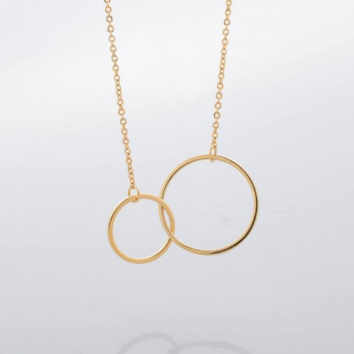 Bridget Dual Ring 18k Gold Plated Necklace
