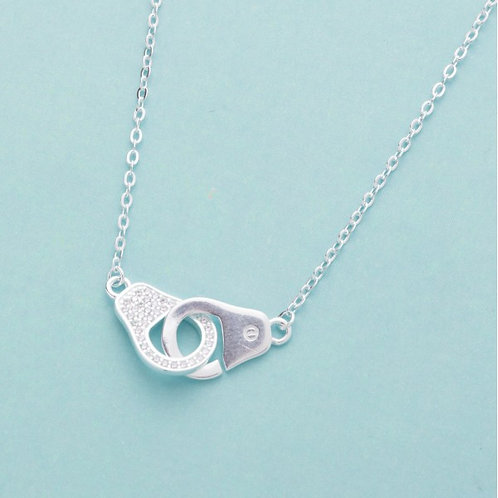 Handcuffs with stone by Argento 925 Silver