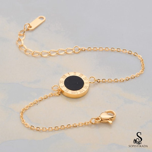 Fiby Stainless Steel Gold Plated Bracelet