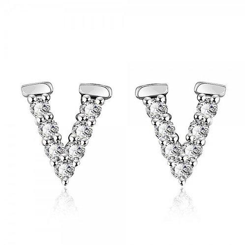 Vivian 18K White Gold Plated Earrings