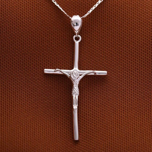 Crucifix Necklace with Large Pendant