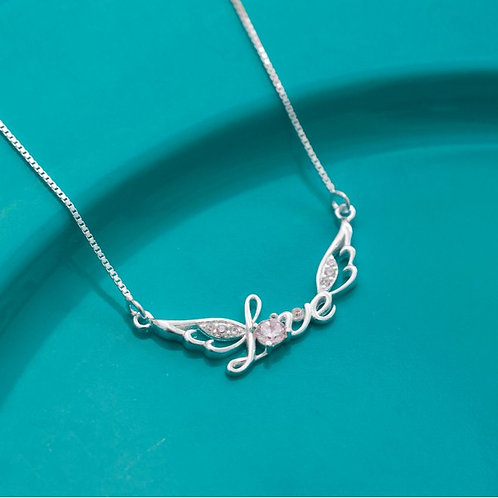 Wings of Love Necklace by Argento 925 SIlver