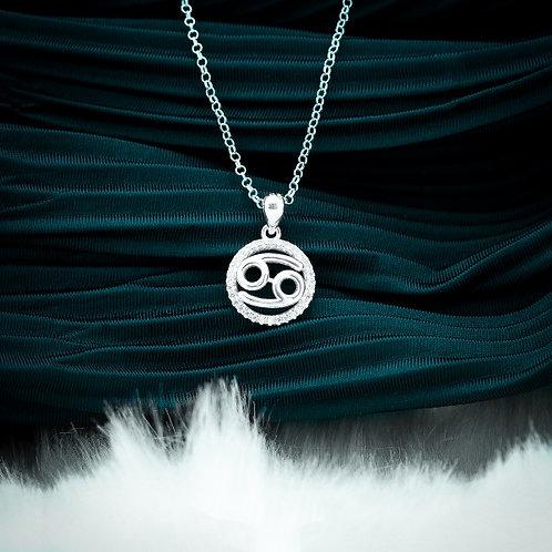 Zodiac Sign Cancer 925 Silver Necklace