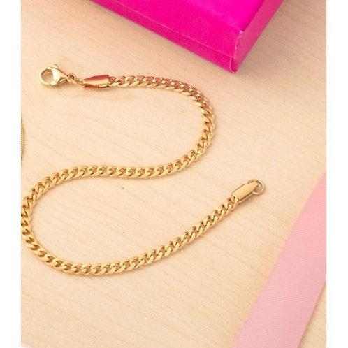 Alya Stainless Steel Gold Plated Bracelet for Men
