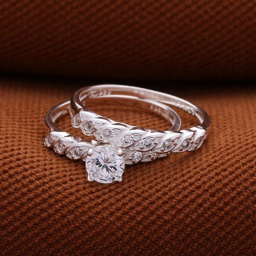 Tower Ring B 925 Silver 2-in-1 Ring
