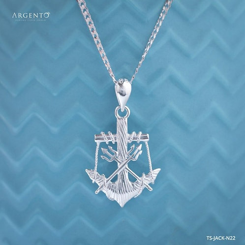 Jack Sparrow 925 Silver Necklace by Argento