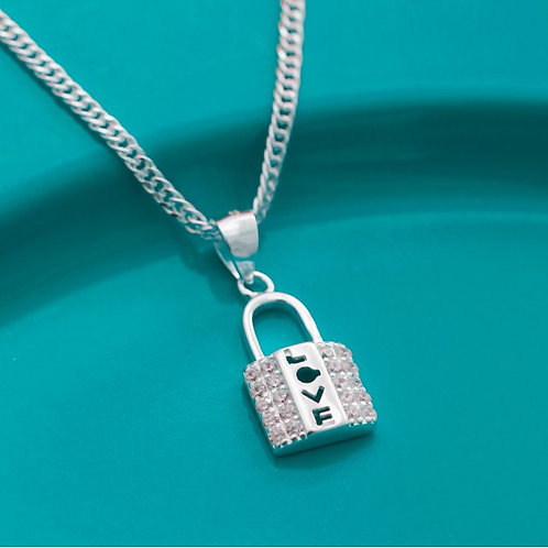 Guardians Lock Necklace by Argento 925 Silver