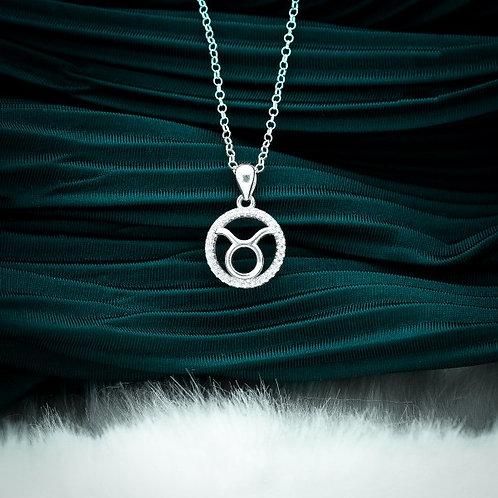 Zodiac Sign Taurus 925 Silver Necklace