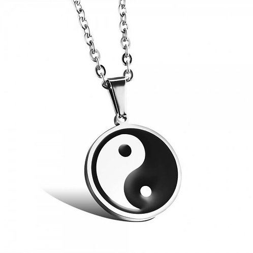 Yin Yang Logo 316L Staineless Steel Necklace