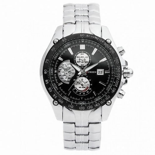 Victor Sports Silver Stainless Steel Watch by Curren