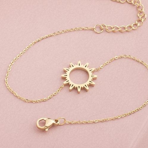 Coachella Sun Stainless Steel Gold Plated Bracelet