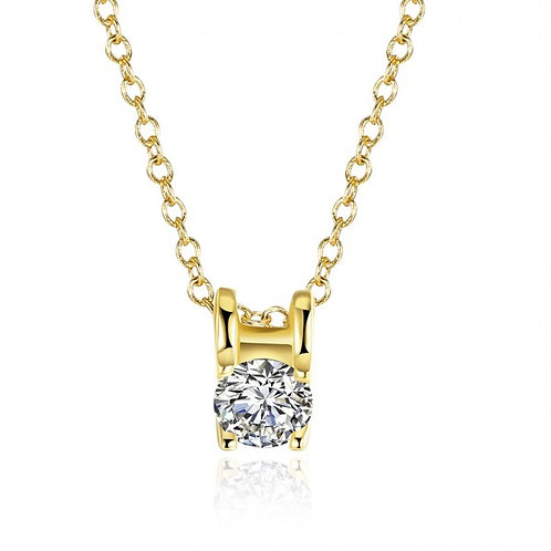 18k Gold Plated Roxanne Necklace (Gold)