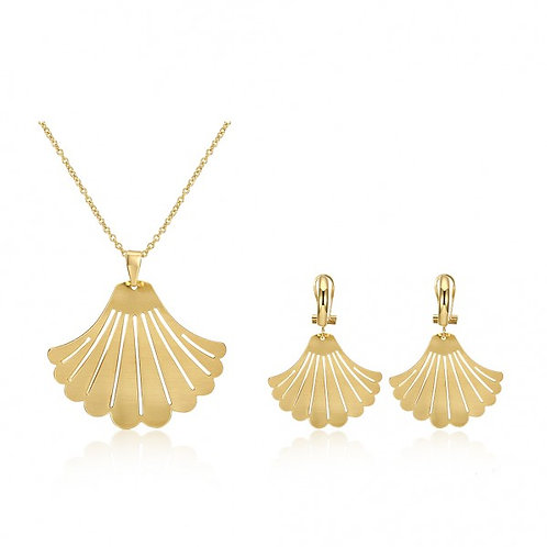 Amanda 18k Gold Plated Necklace and Earrings Set