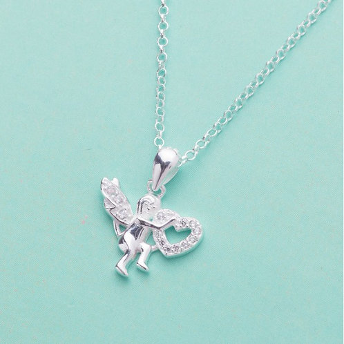 Querubin 925 Sterling Silver Necklace by Argento