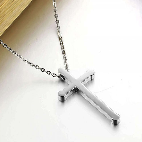 Bishop 316L Stainless Steel Silver Necklace