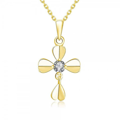 Martha 18K Gold Plated Cross Necklace