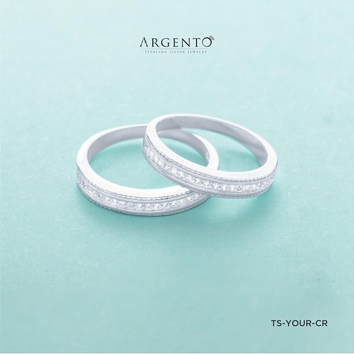 Your Love 925 Silver Couple Rings by Argento