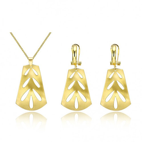 Conny 18k Gold Plated Necklace and Earrings Set