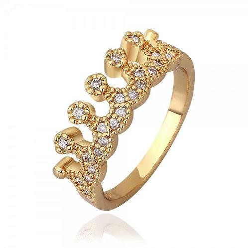 Mishca 18K Gold Plated Princess Ring