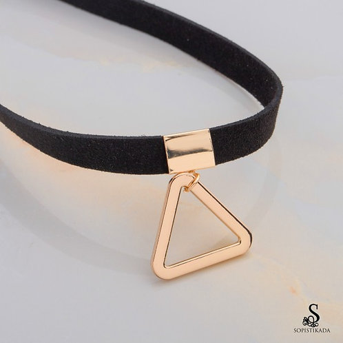 Meadow Stainless Steel Gold Plated Choker Necklace