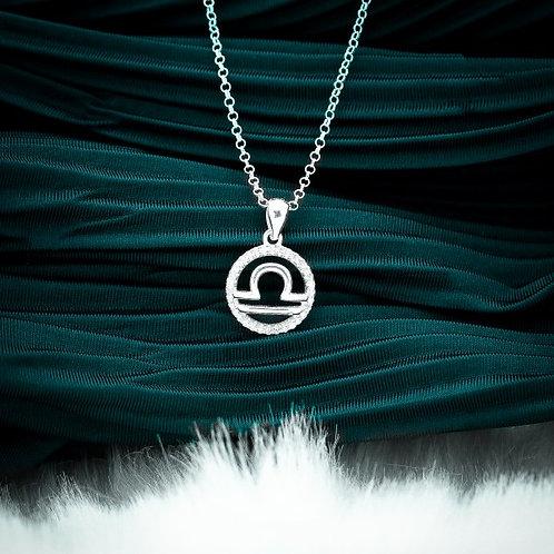 Zodiac Sign Libra 925 Silver Necklace