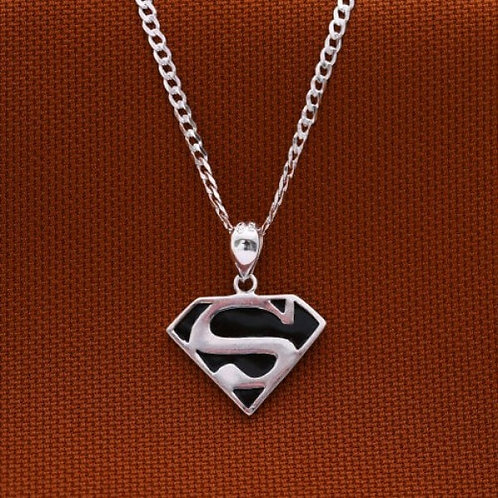 Superman 925 Sterling Silver Necklace