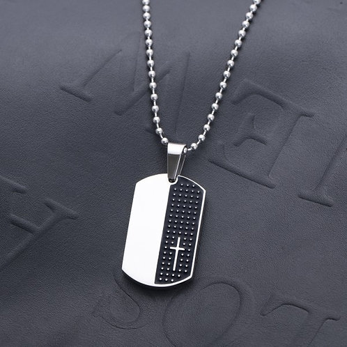 Moses Dogtag 316L Mens Necklace