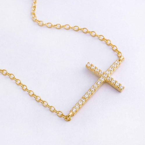 Avah 18K Gold Plated Cross Necklace