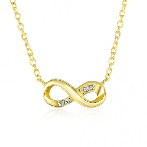 Suzette Infinity with stones 18K Gold Plated Necklace