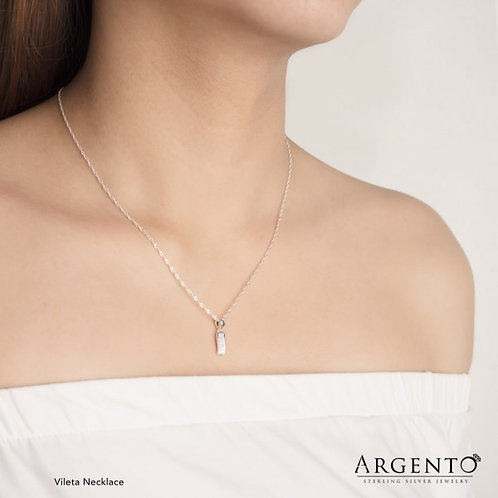 Vileta Necklace 925 Silver by Argento