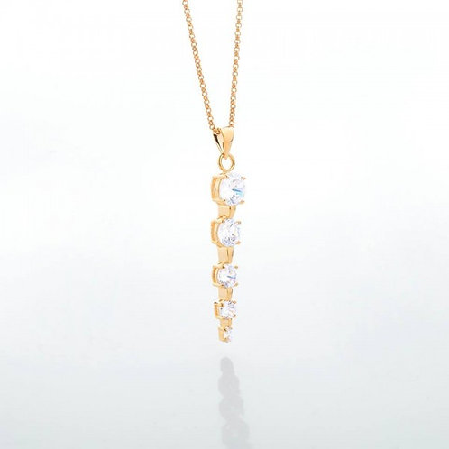 Kyra Zircon Stoned 18k Gold Plated Necklace
