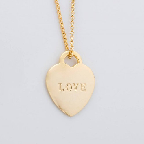 Evie Lock-your-heart 18k Gold Plated Necklace