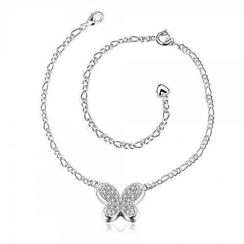 Keana Butterfly 925 Silver Plated Anklet