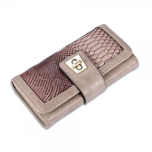 Sophia Trifold Wallet in Burnt Bronze