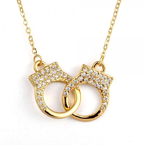 Handcuff 18K Gold Plated Necklace