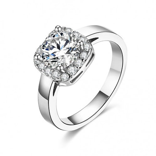 Drizela 18k White Gold Plated Ring